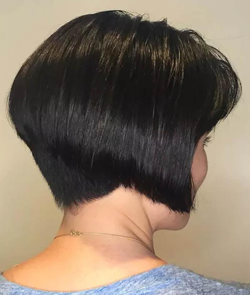 Tóc cắt xếp lớp hình nêm