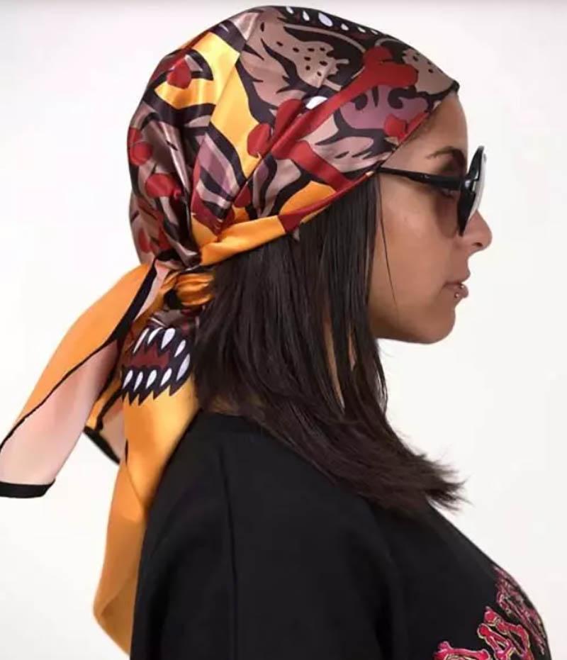 Kiểu buộc khăn full đầu