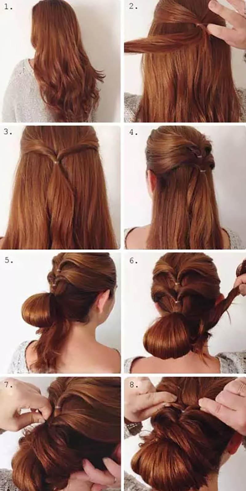 Búi tóc kiểu xoắn vòng