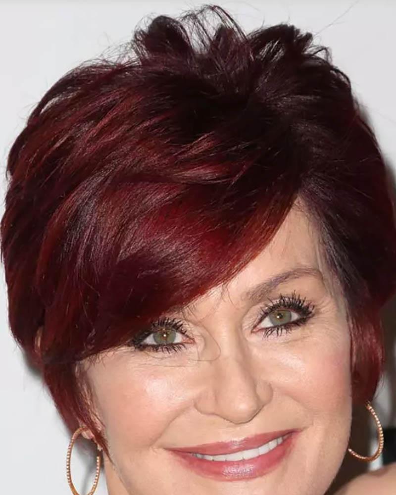 Tóc bob pixie nhuộm màu đỏ