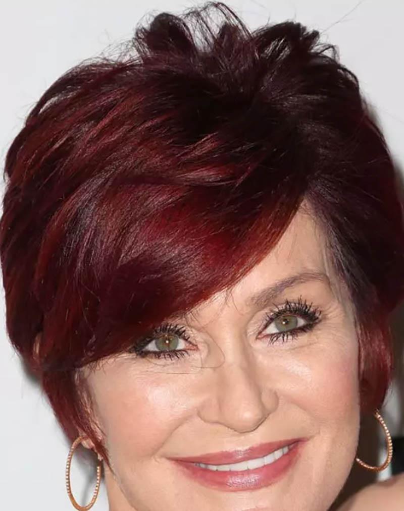 Kiểu tóc bob theo phong cách pixie kết hợp nhuộm màu đỏ mận