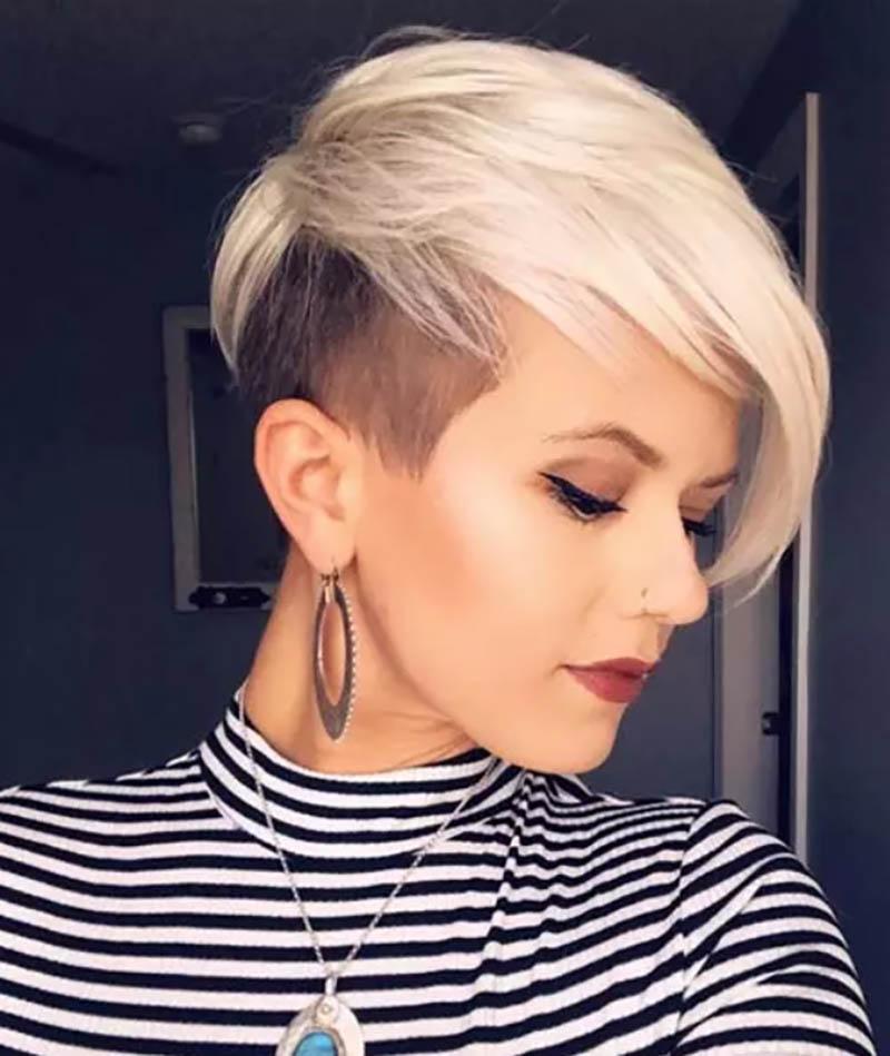 Kiểu tóc theo phong cách Pixie bạch kim