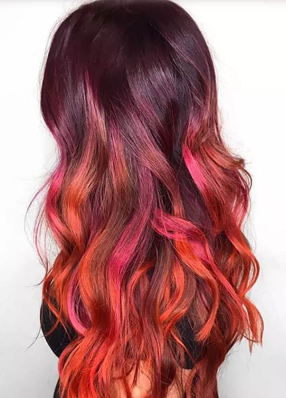 Tóc siêu dài nhuộm màu Ombre mùa thu