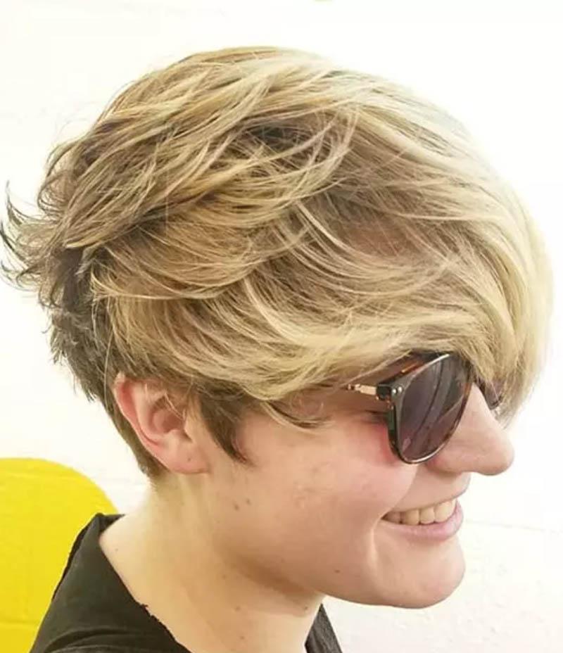 Kiểu tóc xếp lớp từ phía sau