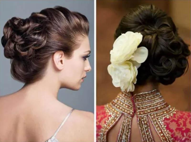 Búi tóc cài hoa lớn
