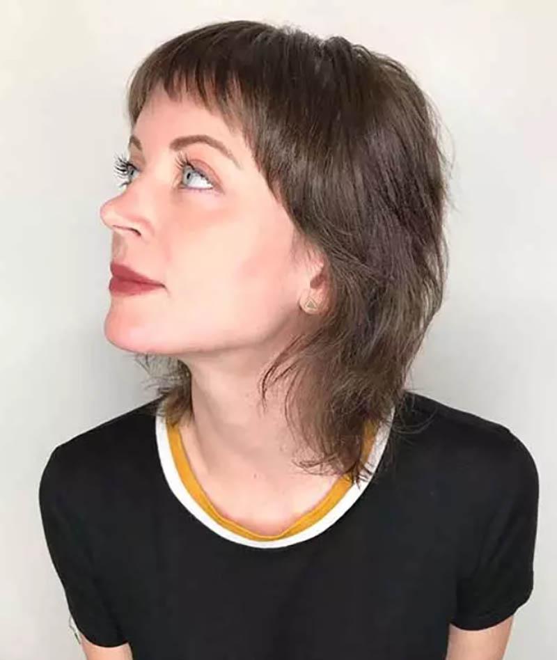 Kiểu tóc lob với mái ngố
