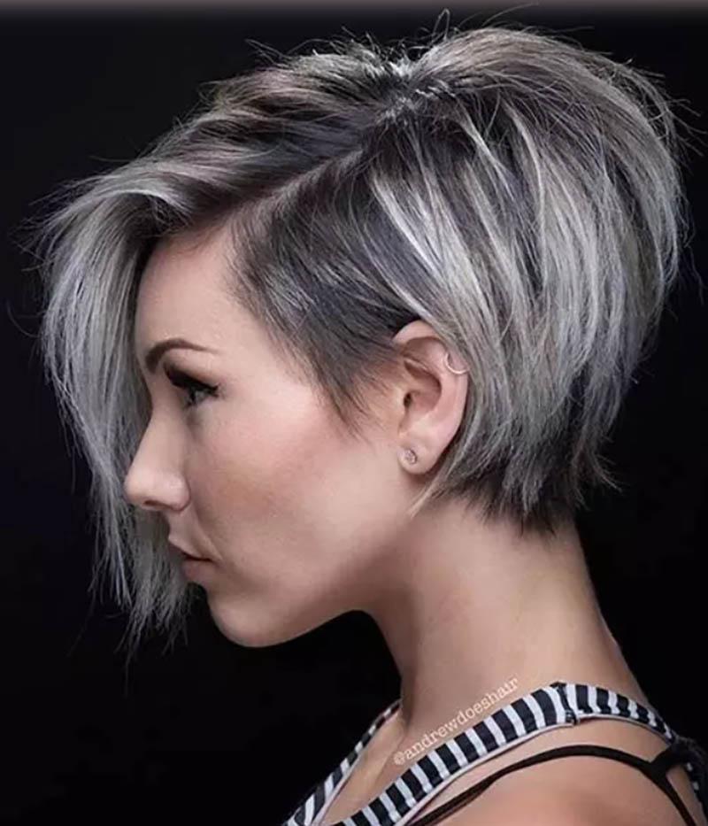 Những lớp tóc tương phản