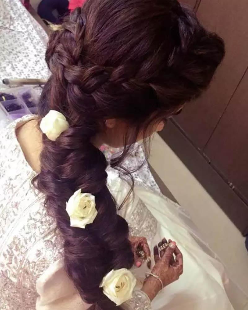Bện tóc kết hoa