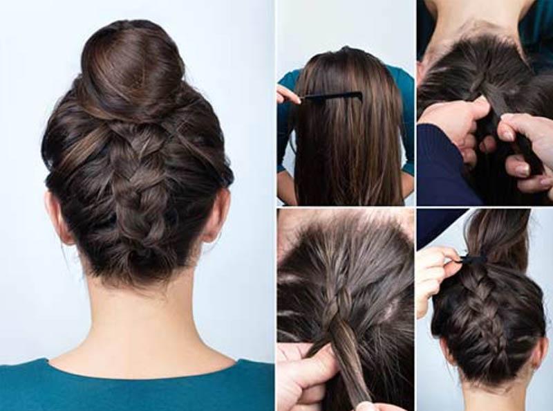 Tóc búi tết tóc kiểu Pháp