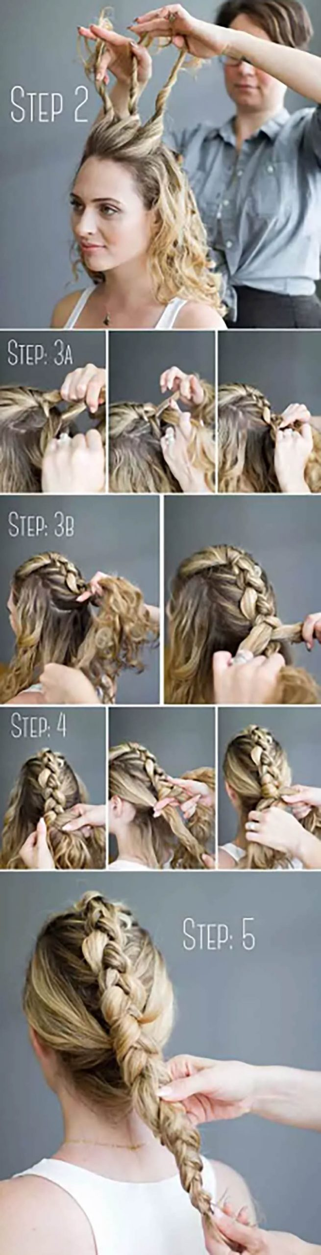 Búi tóc kiểu Mohican và tết kiểu Hà Lan
