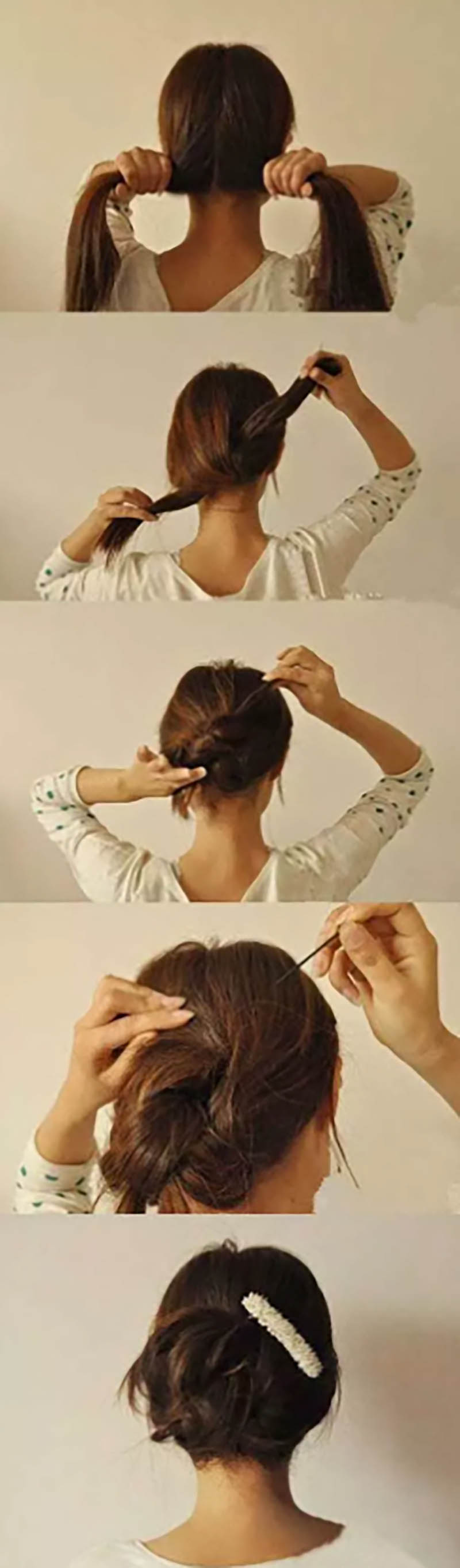 Búi tóc thắt nút