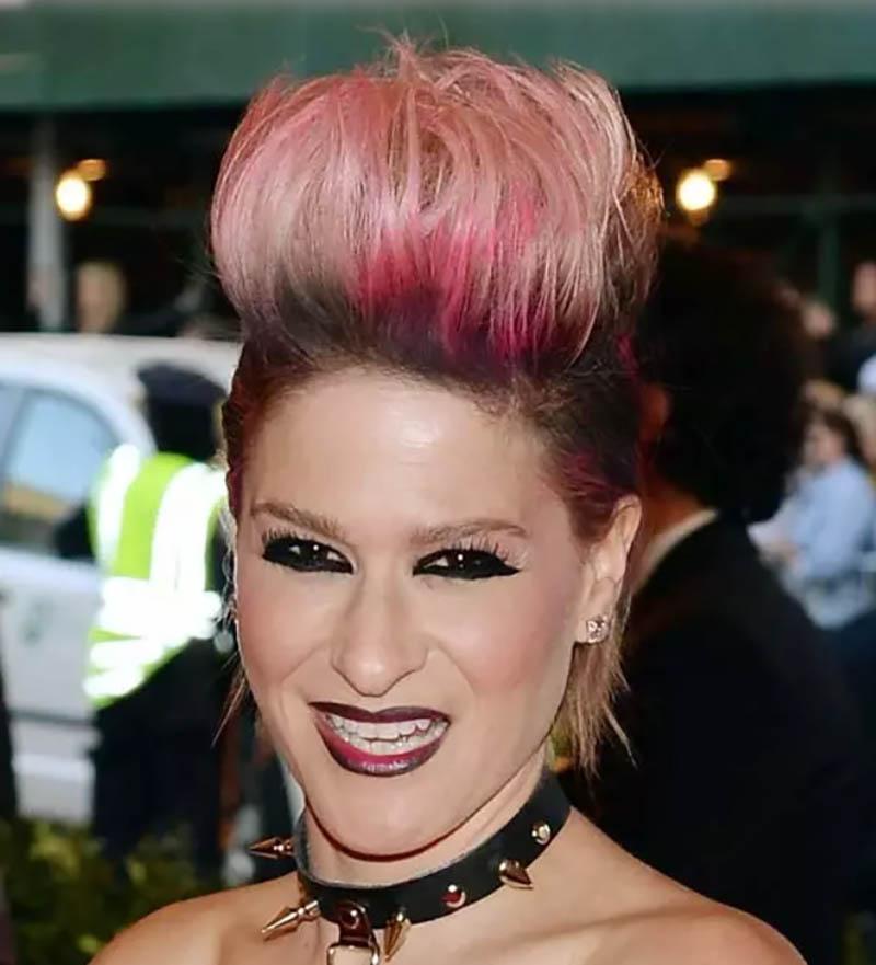 Tóc Spiky nhuộm màu hồng