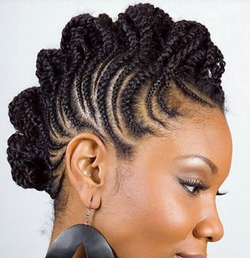 Kết tóc kết hợp kiểu đầu mohican