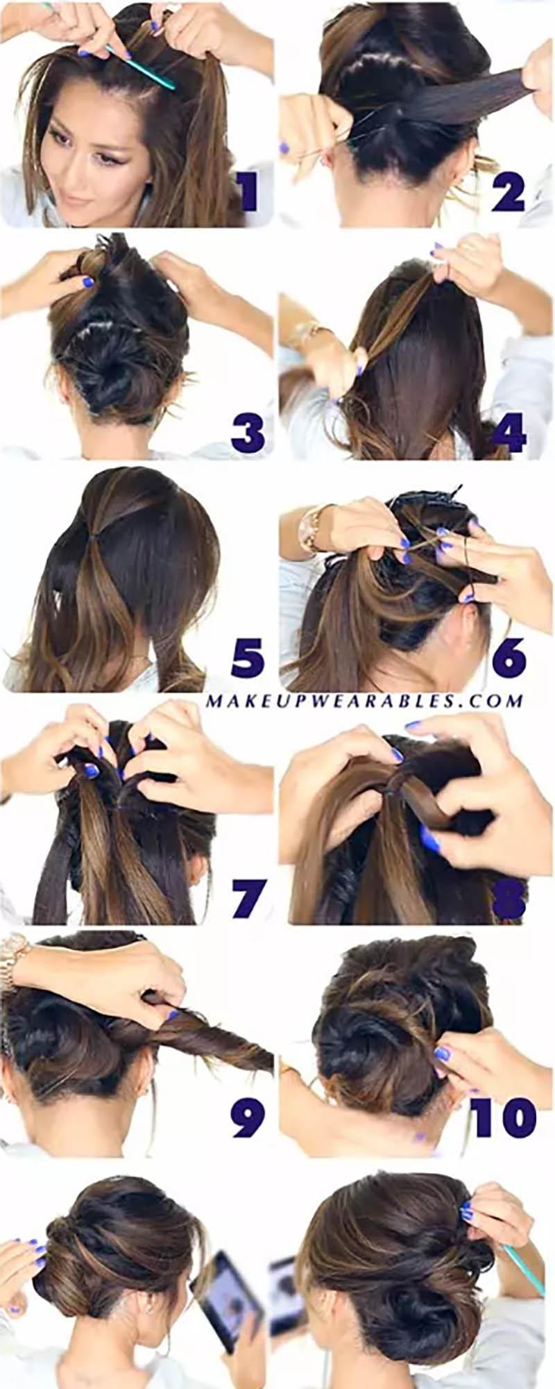 Búi tóc kiểu tự nhiên