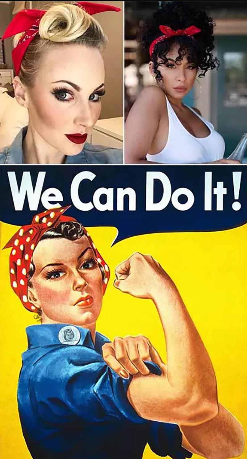Buộc theo kiểu Rosie The Riveter