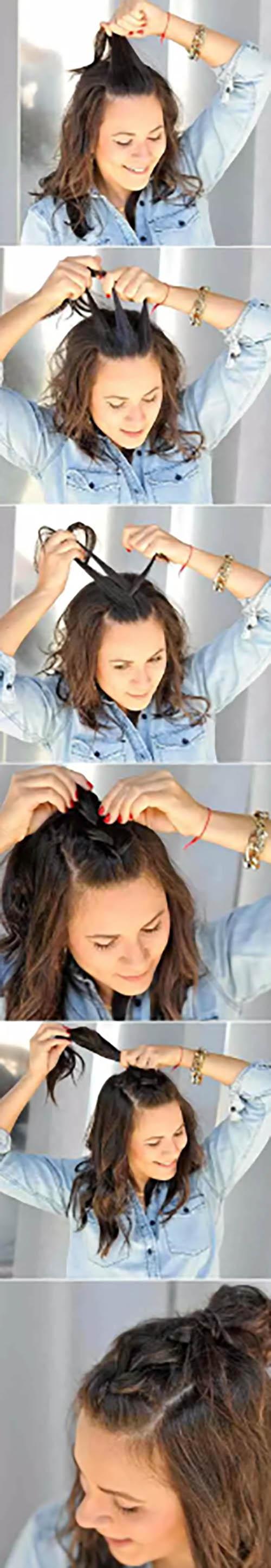 Búi tóc tết kiểu Pháp