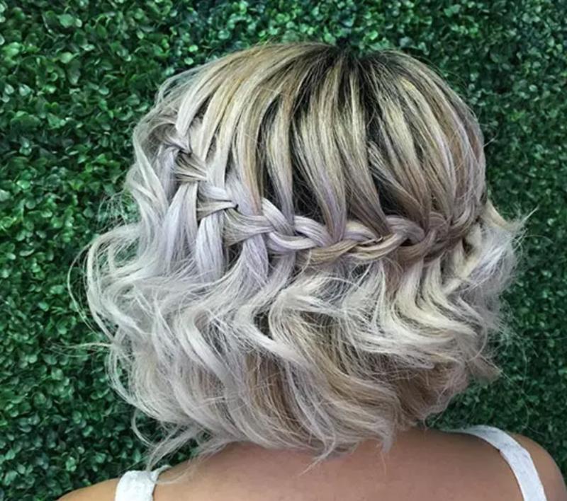 Thắt tóc kiểu thác nước