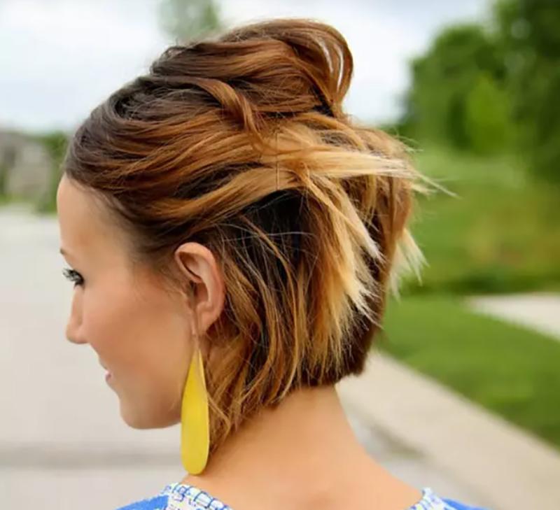 Uốn tóc ghim bằng kẹp