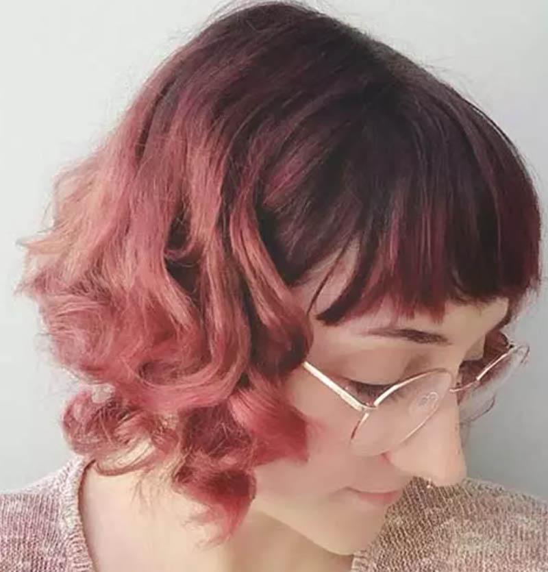 Mái tóc xoăn màu