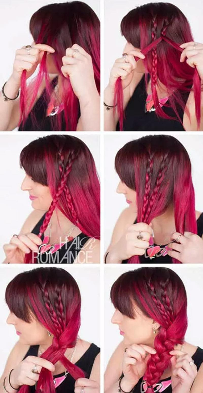 Bện tóc cách điệu