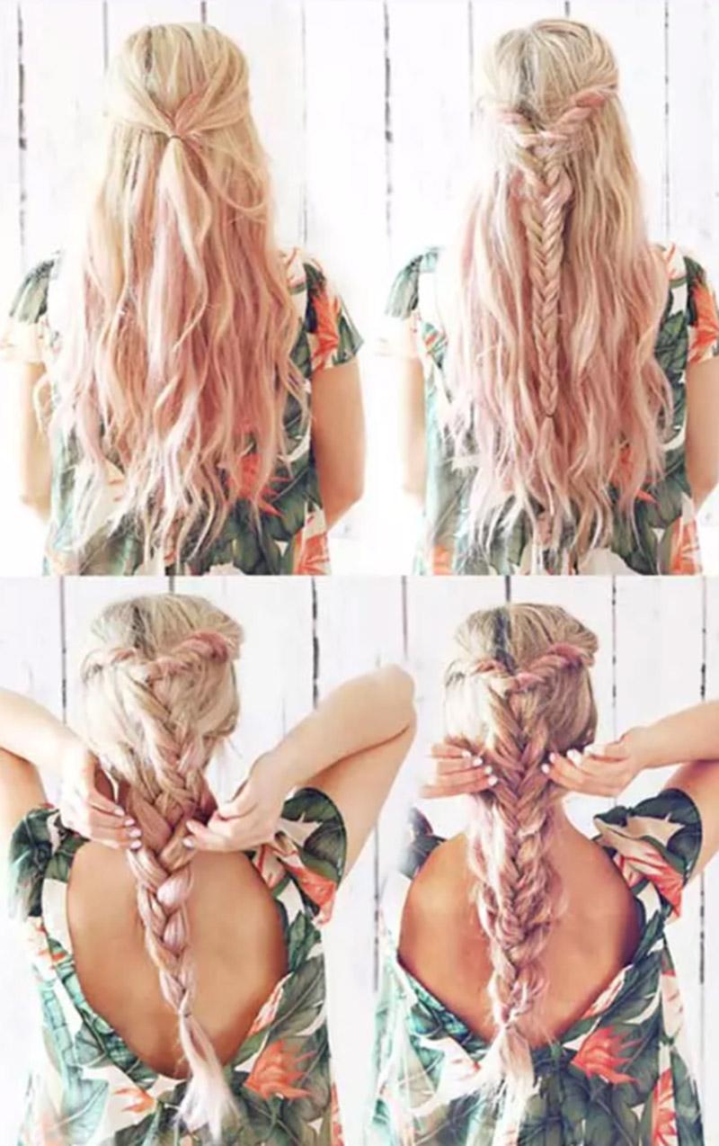 Bím tóc hai tầng