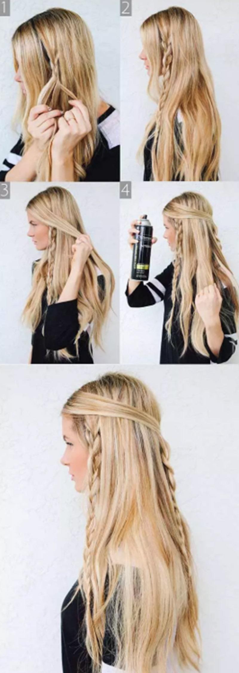 Bím tóc kiểu Hippie