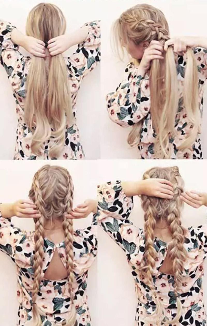 Bím tóc phồng đuôi rối