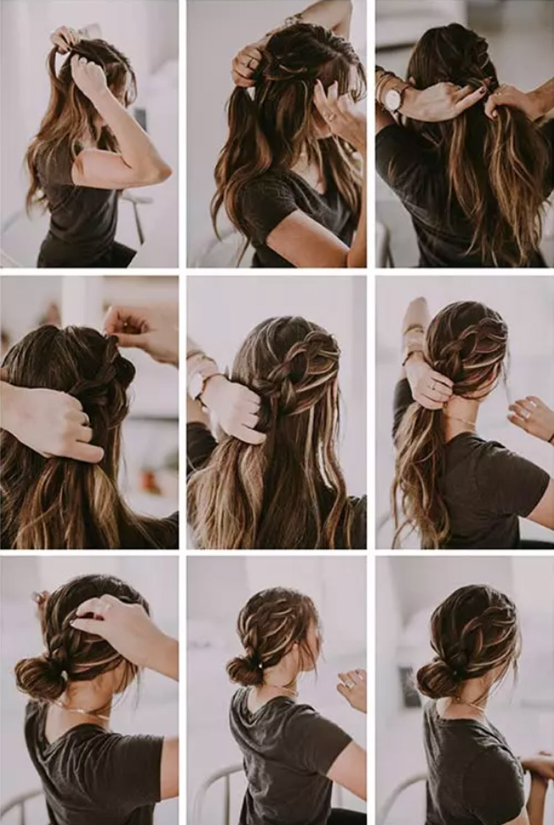 Bím tóc xoắn kiểu Pháp