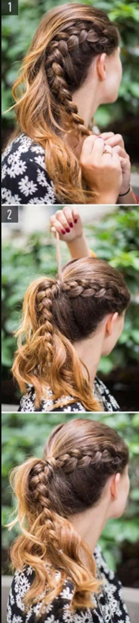 Búi tóc đuôi ngựa Hà Lan