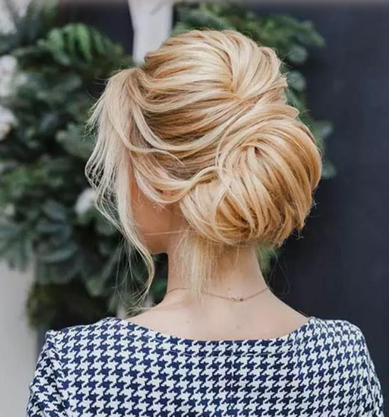Búi tóc kiểu hiện đại