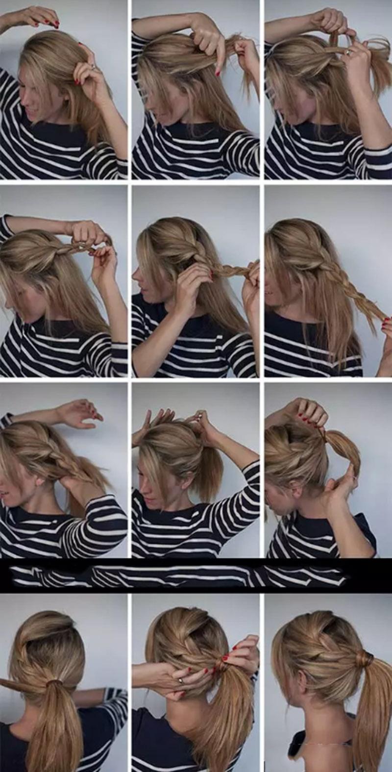 Buộc đuôi ngựa tết tóc