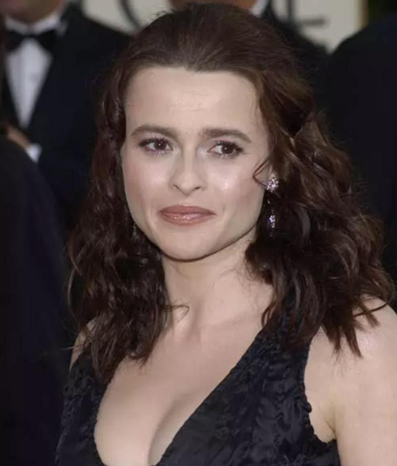 Diễn viên Helena Bonham Carter - Tóc uốn xoăn gợn sóng