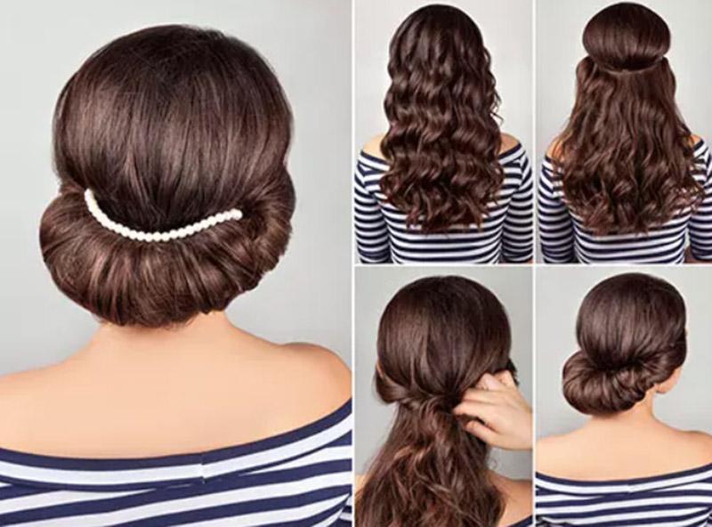Kiểu tóc cuộn Gibson