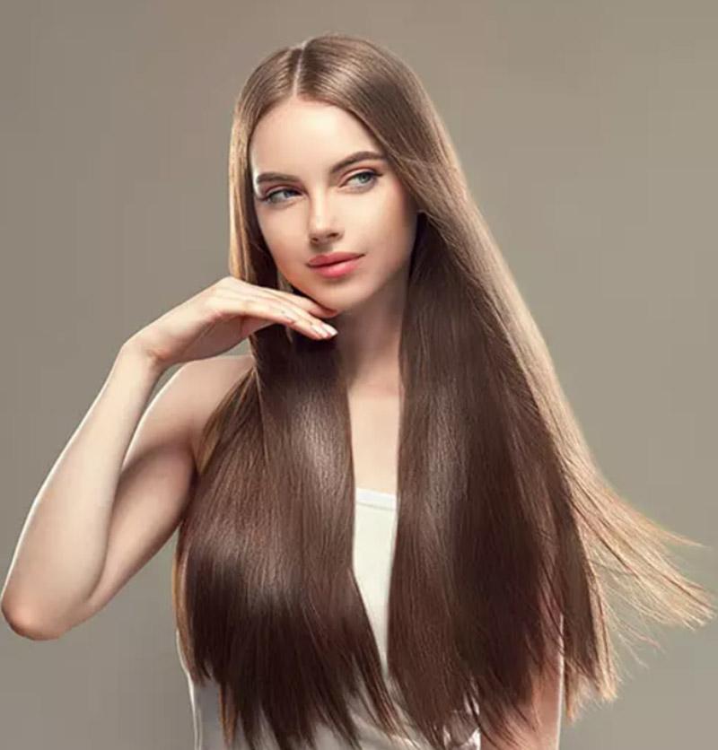 Kiểu tóc dài duỗi thẳng