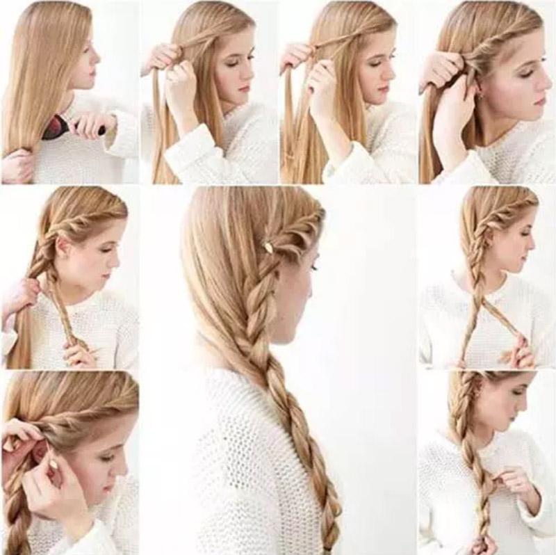 Kiểu tóc tết xoắn kiểu Pháp