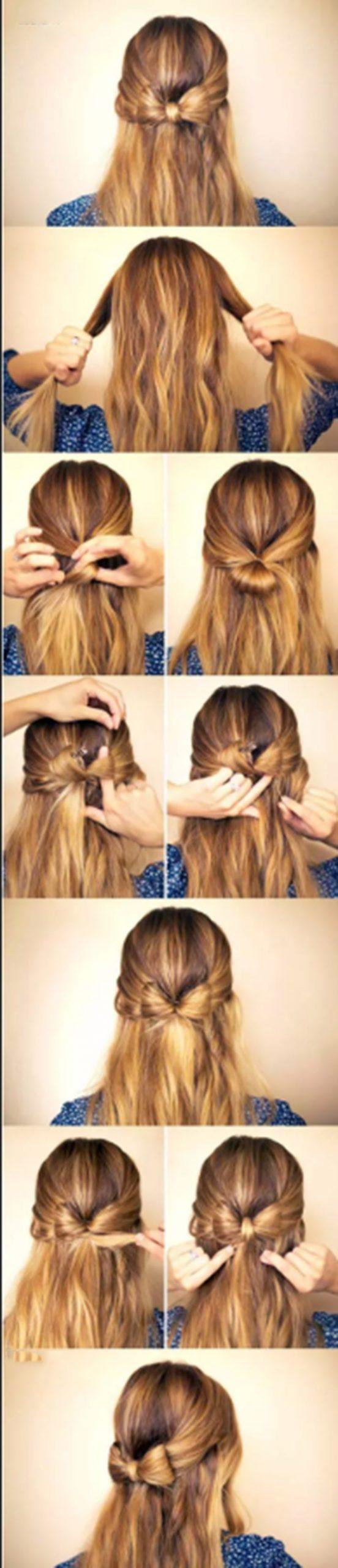 Tạo hình nơ cho tóc