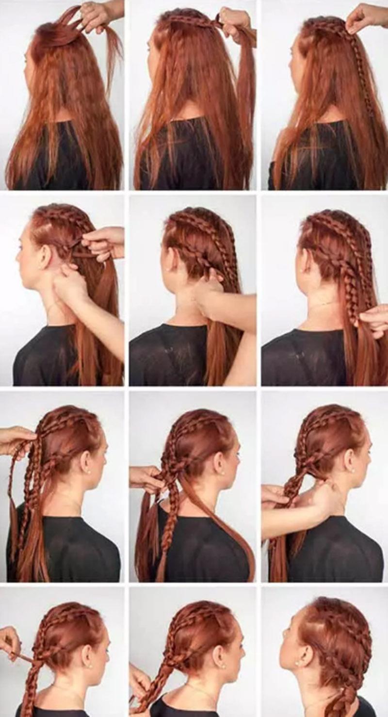 Tết tóc hai tầng