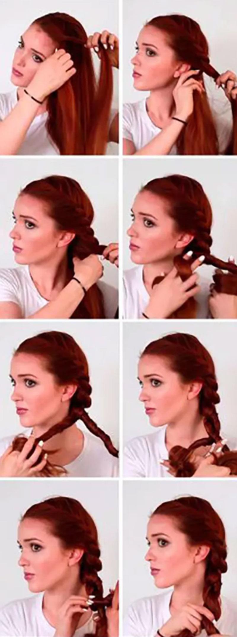 Tết tóc kiểu dây thừng