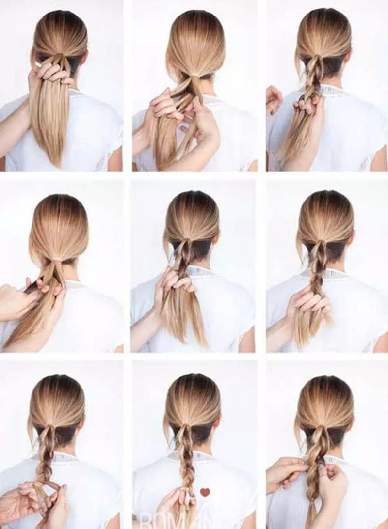 Tết tóc xuôi kiểu 3D
