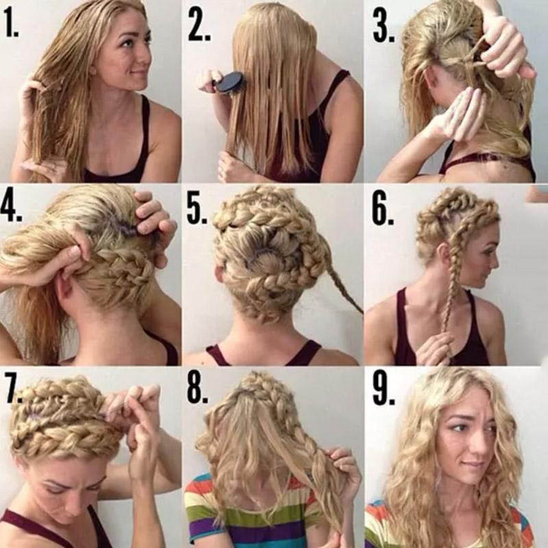 Thực hiện tết tóc tạo hình ngoằn ngoèo