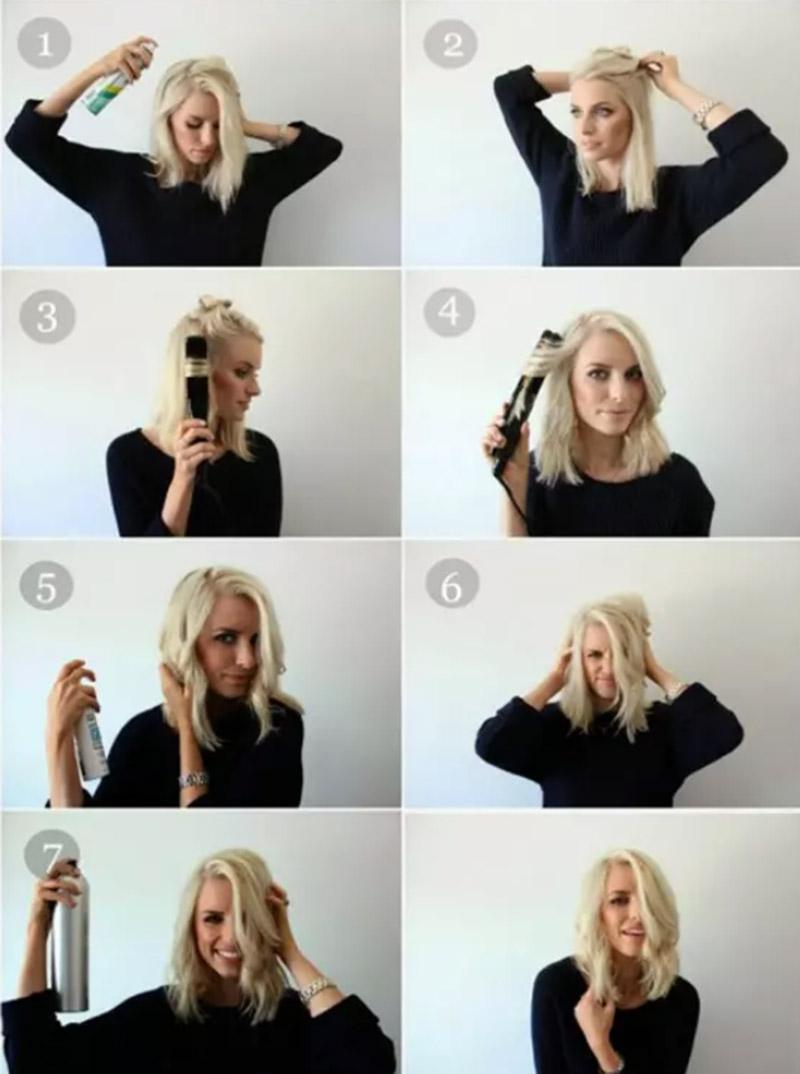 Thực hiện với máy là tóc
