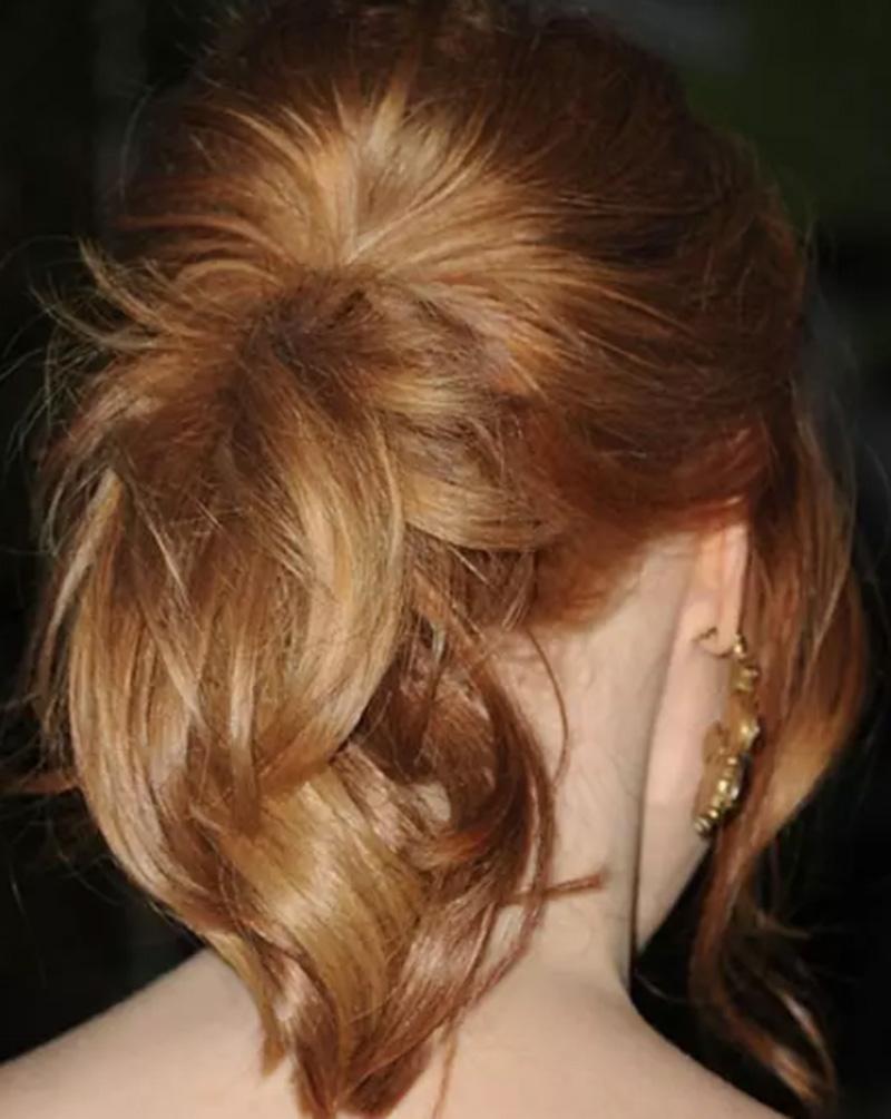 Tóc đuôi ngựa tỉa nhiều hướng với phần tóc mái tự do