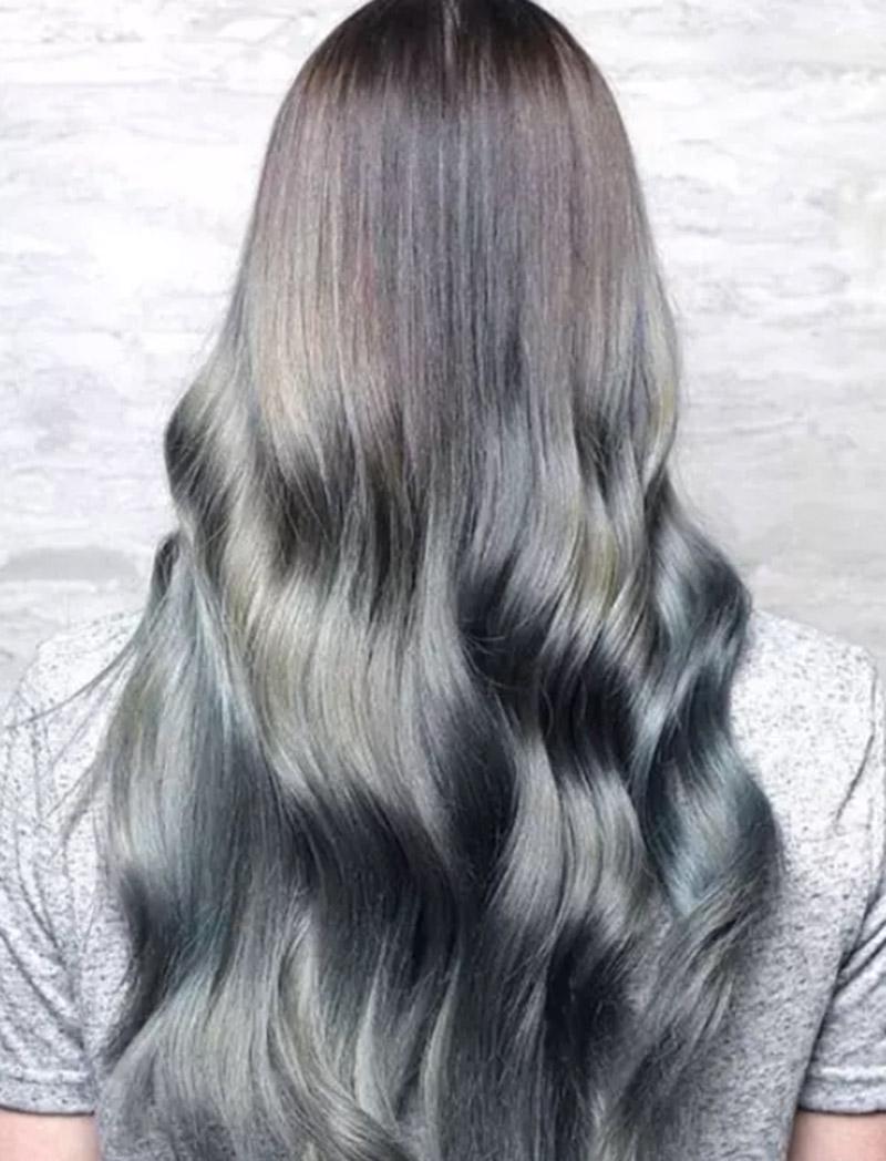 Tóc layer bất đối xứng