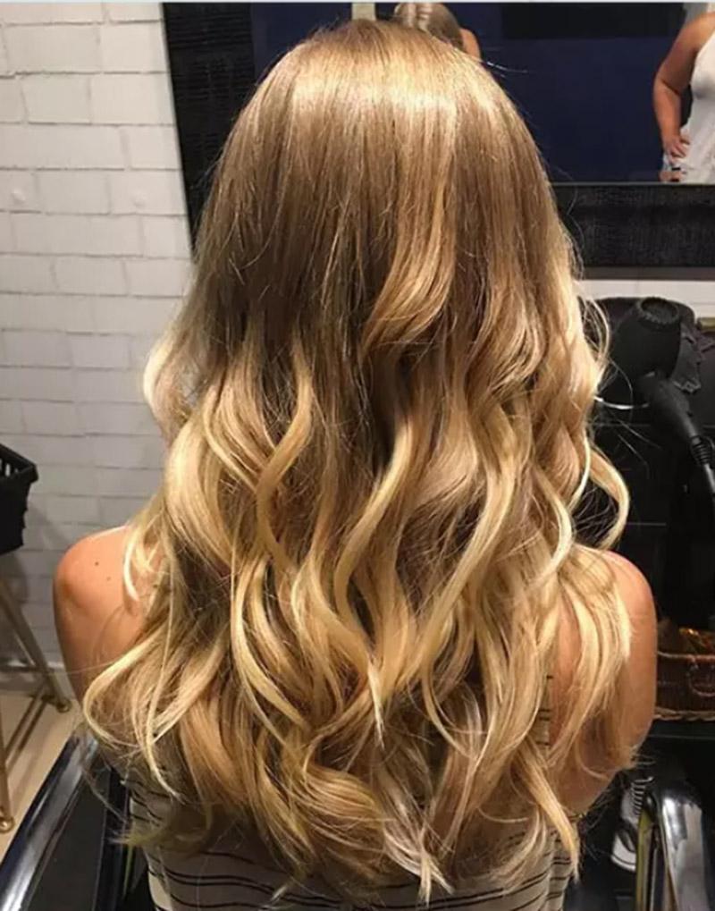Tóc vàng layer kiểu phong cách bohemian