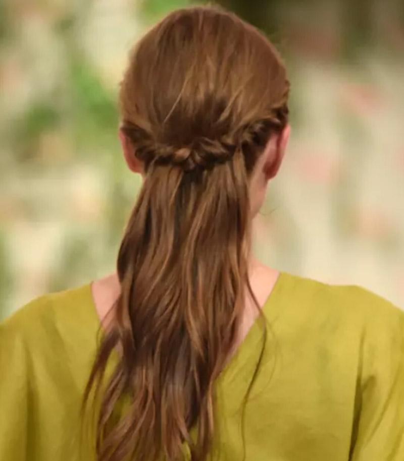 Vấn tóc nửa đầu