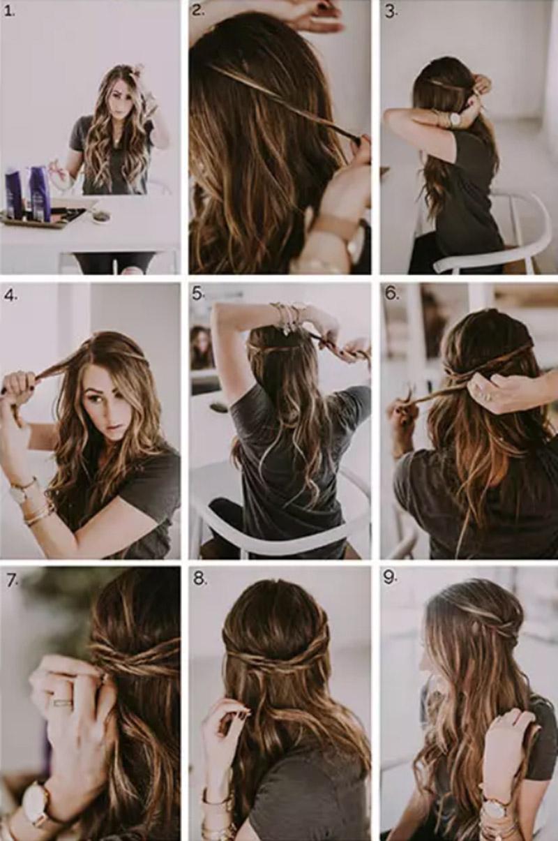 Xoắn tóc từng lớp nhỏ