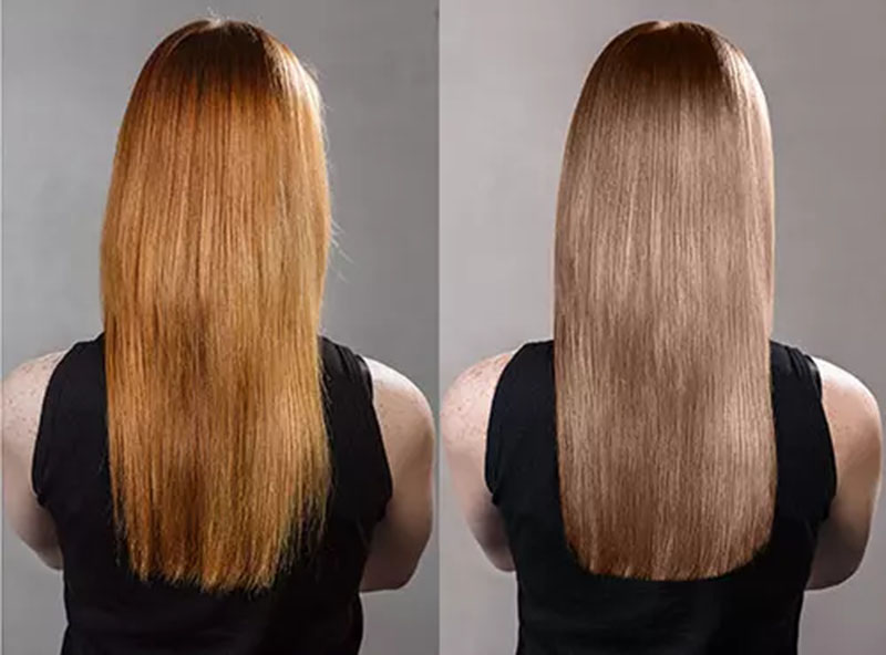Cách khắc phục tóc bị lỗi màu cam với thuốc nhuộm toner