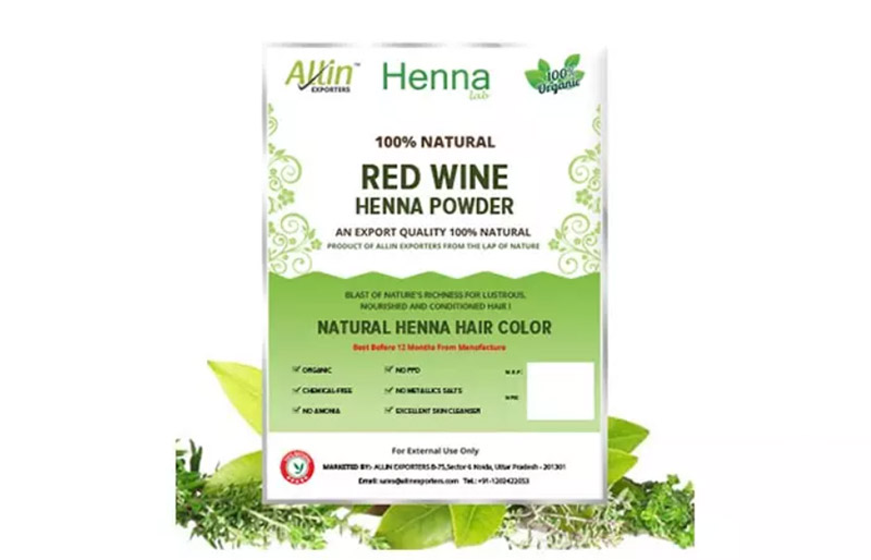 Allin Exporters Red Wine Henna Powder