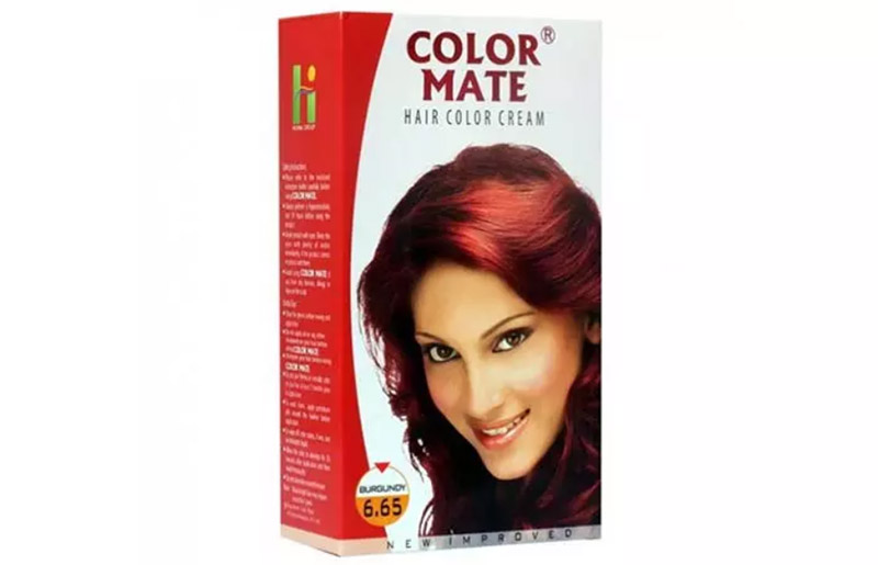 Color Mate Hair Color Cream – 6.65 Burgundy