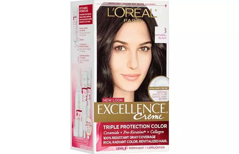 L'Oreal Paris Excellence Creme Triple Protection Color Creme Permanent Hair Color – 3 Natural Black
